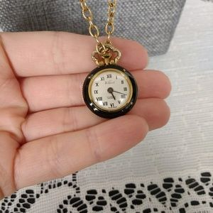 Unique Vintage Ladies Reversable Watch Necklace